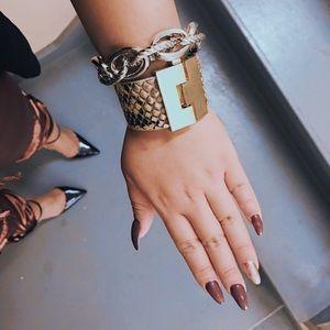 Real leather designer Cuff